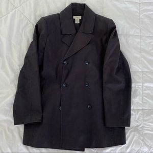 Brooks Brothers Short Trench Raincoat Navy